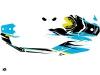 Seadoo Spark Jet-Ski Stage Graphic Kit Yellow Blue