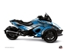 Can Am Spyder RT Limited Roadster Stage Graphic Kit Blue Grey