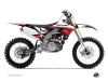 Kit Déco Moto Cross Stripe Yamaha 450 YZF Rouge