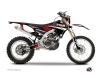 Kit Déco Moto Cross Techno Yamaha 450 WRF Rouge