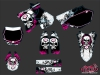 Yamaha 125 YZ Dirt Bike Trash Graphic Kit Pink