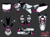 Kit graphique Moto Cross Trash Yamaha 450 YZF Noir Rose
