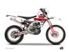 Yamaha 250 WRF Dirt Bike Vintage Graphic Kit Red