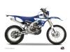 Yamaha 450 WRF Dirt Bike Vintage Graphic Kit Blue