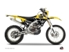 Kit Déco Moto Cross Vintage Yamaha 450 WRF Jaune