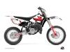 Yamaha 85 YZ Dirt Bike Vintage Graphic Kit Red