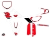 Yamaha 85 YZ Dirt Bike Vintage Graphic Kit Red