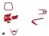 Yamaha TTR 90 Dirt Bike Vintage Graphic Kit Red