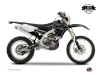 Yamaha 450 WRF Dirt Bike Zombies Dark Graphic Kit Black LIGHT