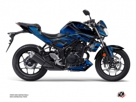 Yamaha MT 03 Street Bike Mission Graphic Kit Blue Black