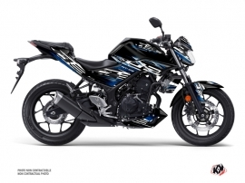 Yamaha MT 03 Street Bike Mission Graphic Kit Black Blue