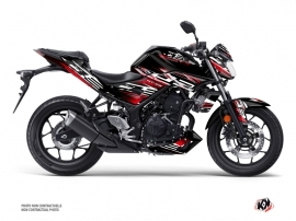 Yamaha MT 03 Street Bike Mission Graphic Kit Black Red