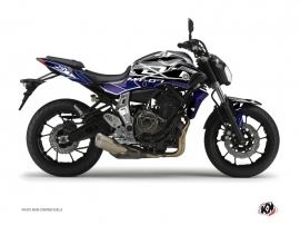 Yamaha MT 07 Street Bike Mission Graphic Kit Blue