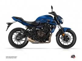 Kit Déco Moto Mission Yamaha MT 07 Bleu Noir