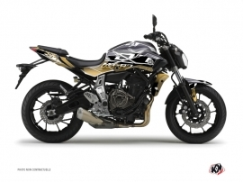 Yamaha MT 07 Street Bike Mission Graphic Kit Brown