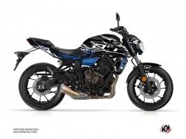 Kit Déco Moto Mission Yamaha MT 07 Noir Bleu