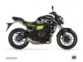 Kit Déco Moto Mission Yamaha MT 07 Noir Jaune