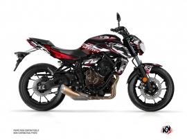 Kit Déco Moto Mission Yamaha MT 07 Noir Rouge