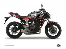 Yamaha MT 07 Street Bike Mission Graphic Kit Red