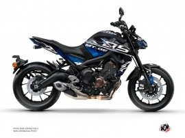 Yamaha MT 09 Street Bike Mission Graphic Kit Black Blue