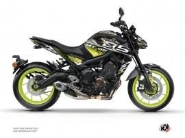 Yamaha MT 09 Street Bike Mission Graphic Kit Black Yellow