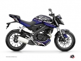 Yamaha MT 125 Street Bike Mission Graphic Kit Blue