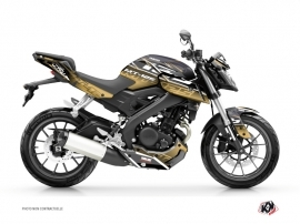 Yamaha MT 125 Street Bike Mission Graphic Kit Brown
