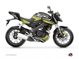 Yamaha MT 125 Street Bike Mission Graphic Kit Black Yellow