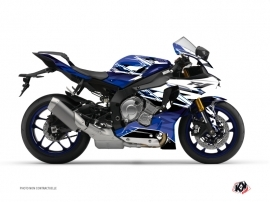 Yamaha R1 Street Bike Mission Graphic Kit Blue