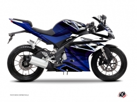 Yamaha R125 Street Bike Mission Graphic Kit Blue