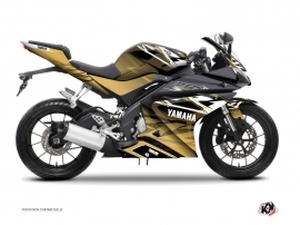 Yamaha R125 Street Bike Mission Graphic Kit Brown