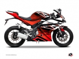Yamaha R125 Street Bike Mission Graphic Kit Red