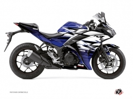 Yamaha R3 Street Bike Mission Graphic Kit Blue