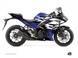 Kit Déco Moto Mission Yamaha R3 Bleu