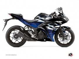 Yamaha R3 Street Bike Mission Graphic Kit Black Blue