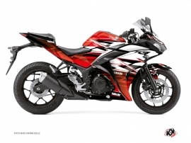 Yamaha R3 Street Bike Mission Graphic Kit Red