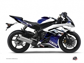 Yamaha R6 Street Bike Mission Graphic Kit Blue