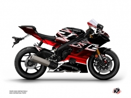 Yamaha R6 Street Bike Mission Graphic Kit Black Red