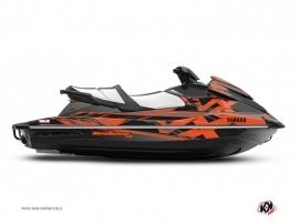 Yamaha VX Jet-Ski Mission Graphic Kit Black Orange