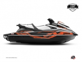 Yamaha VX Jet-Ski Mission Graphic Kit Black Orange LIGHT