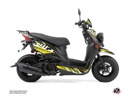 Yamaha BWS 50 - ZUMA 50F Scooter Mission Graphic Kit Black Yellow