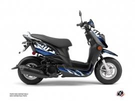 Yamaha ZUMA 50FX Scooter Mission Graphic Kit Black Blue