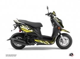 Yamaha ZUMA 50FX Scooter Mission Graphic Kit Black Yellow