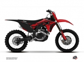 Kit Déco Moto Cross Nasting Honda 450 CRF Rouge Noir