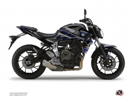Yamaha MT 07 Street Bike Night Graphic Kit Black Blue