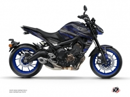Yamaha MT 09 Street Bike Night Graphic Kit Black Blue