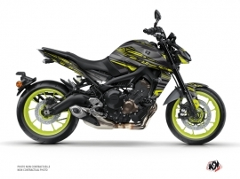 Yamaha MT 09 Street Bike Night Graphic Kit Black Yellow