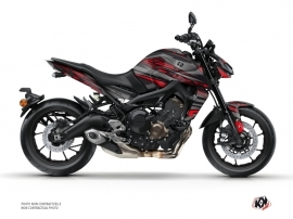 Yamaha MT 09 Street Bike Night Graphic Kit Black Red