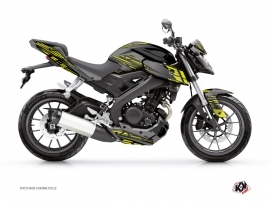 Yamaha MT 125 Street Bike Night Graphic Kit Black Yellow