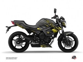 Yamaha XJ6 Street Bike Night Graphic Kit Black Yellow